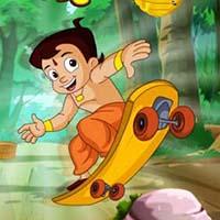 Chota Bheem Skateboarding